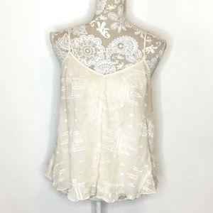Rebecca Taylor embroidered silk camisole Sz 8 b